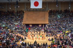 The Summer Grand Sumo Tournament in Japan has been cancelled.