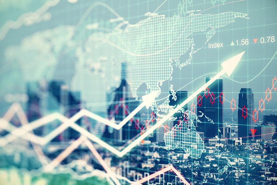 Gross domestic product falls amid crisis.