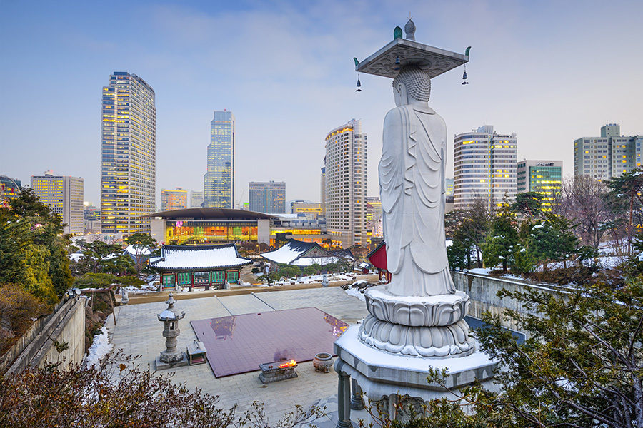 Many businesses in South Korea have returned to lockdown.