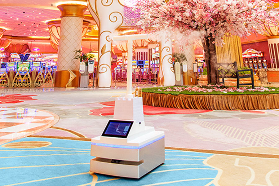 The robots can give directions to guests in the property.
