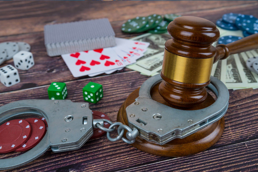 Assets were confiscated from three people arrested in connetion with gambling operations.