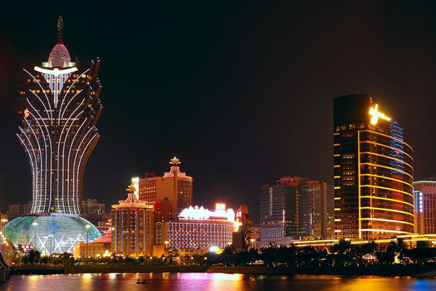 Macau's economy is heavily dependent on tourism.
