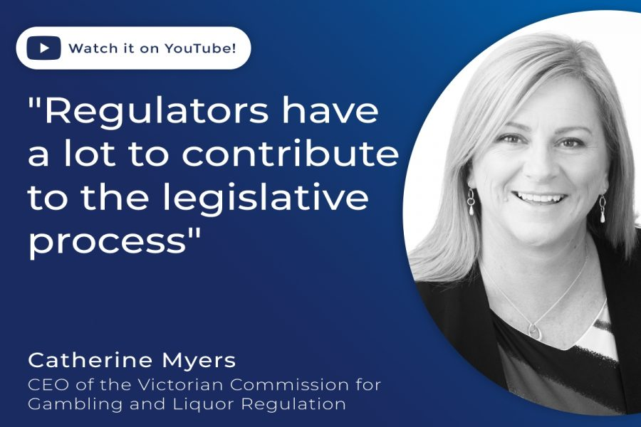 Catherine Myers is a trustee at IAGR as well as CEO of the Victorian gaming regulator.