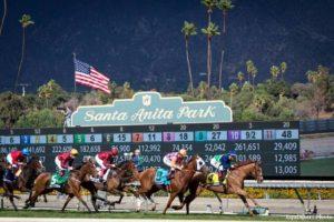 """Santa Anita Park prepara una """"zona de cuarentena"""" para reanudar la actividad"""