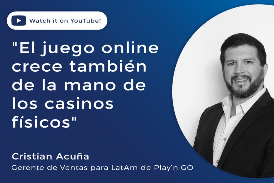 Cristian Acuña, gerente de ventas de Play'n GO en Latinoamérica, analizó la actualidad de la empresa y el sector.