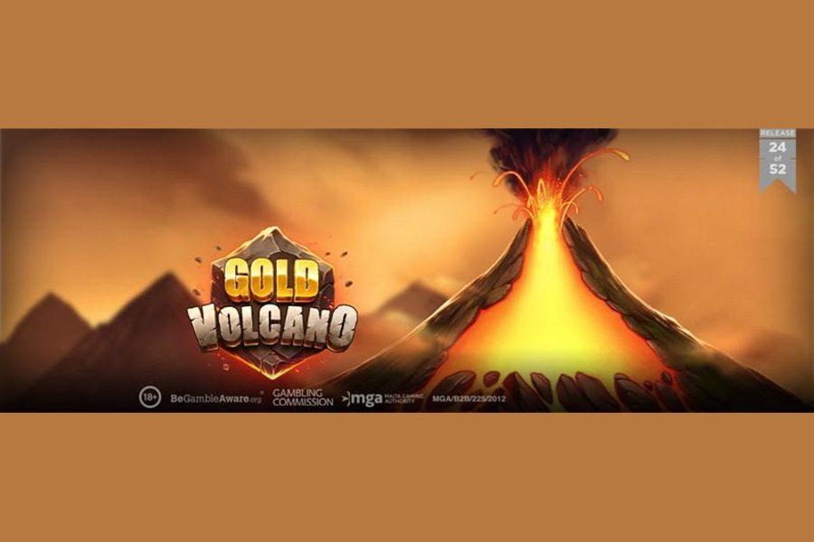 Play'n GO presentó Gold Volcano, su último juego de slots.