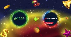 EGT Interactive extiende su colaboración con FavBet a Rumania.