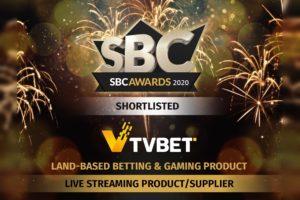 TVBET fue reconocido entre las mejores empresas del sector y podría ganar dos premios en los SBC Awards.