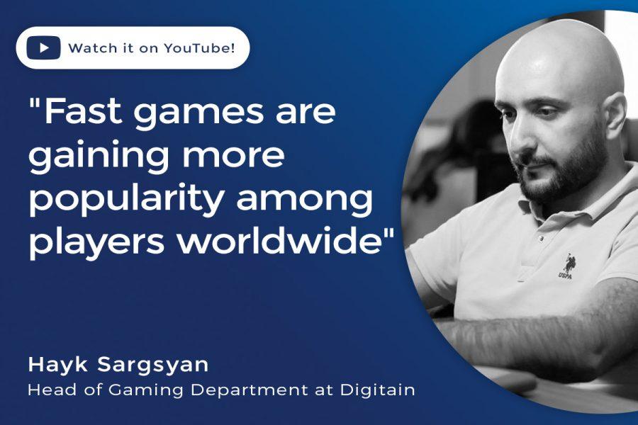 Hayk Sargsyan, jefe del departamento de juegos de Digitain.