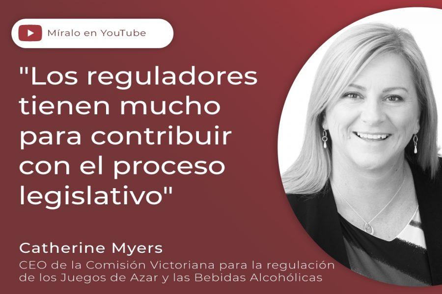 Catherine Myers, CEO de la Comisión Victoriana para la Regulación de los Juegos de Azar y Bebidas Alcohólicas.