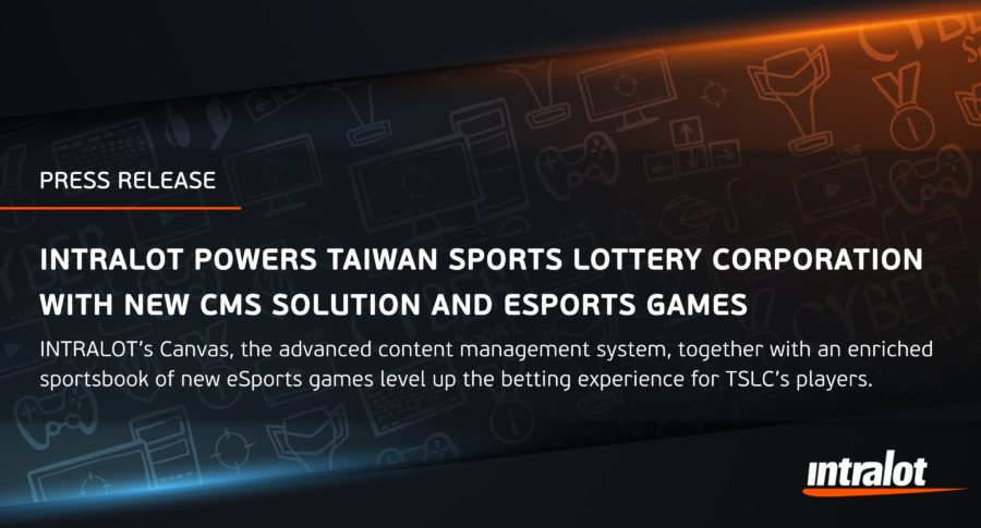 INTRALOT powers Taiwan Sports Lottery Corporation with new CMS solution and eSports games