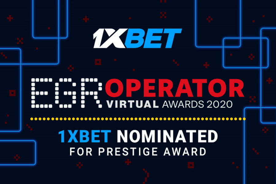 """1xBet aims to win the """"eSports Operator"""" category at the EGR Operator Awards."""