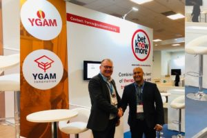 YGAM CEO Lee Willows and Betknowmore UK CEO  Frankie Graham.