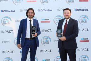 Panagiotis Kouris, CEO, Office Line (left) & Dimitris Kalpaxis, VP, Cloud Infrastructure and Corporate IT, INTRALOT.