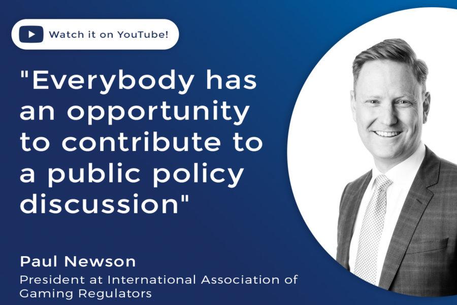 Paul Newson, president of the International Association of Gaming Regulators.
