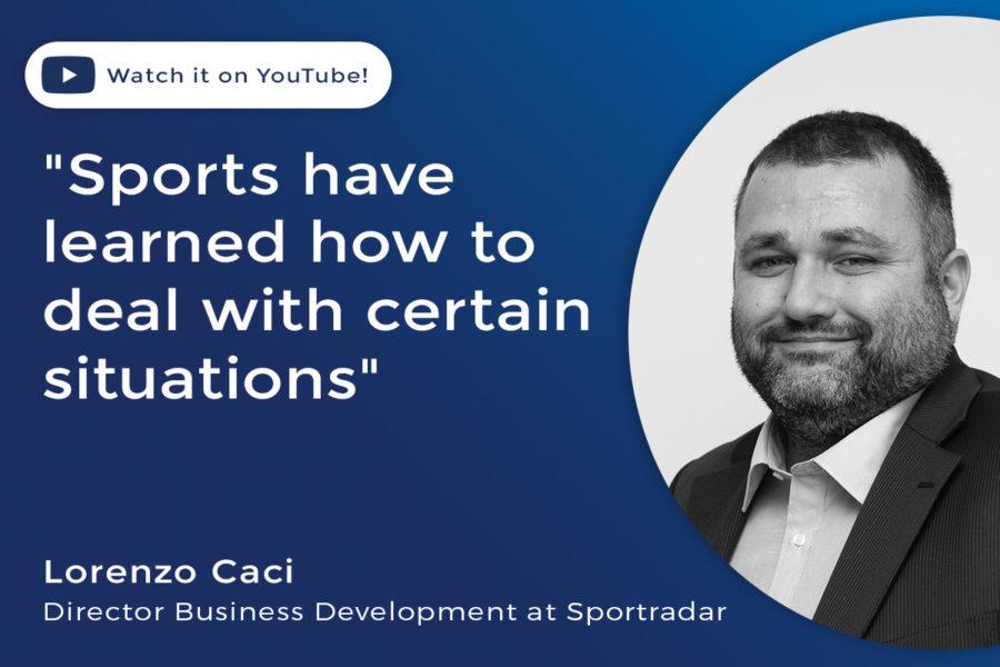 Lorenzo Caci, Sportradar's director of business development and strategic partnerships.