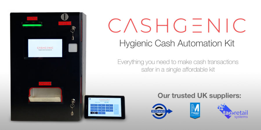 CashGenic makes cash handling safer and more hygienic.