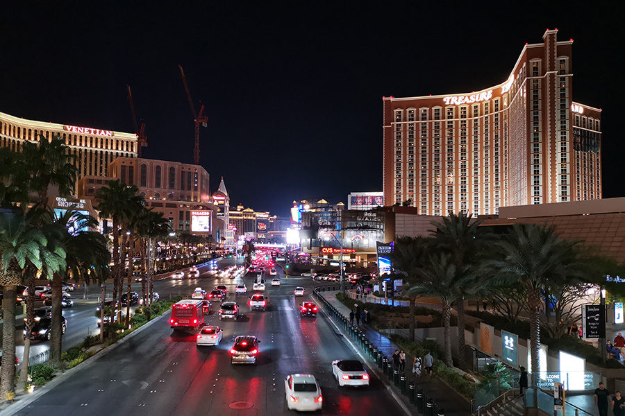 Police are investigating two homicides on the strip.