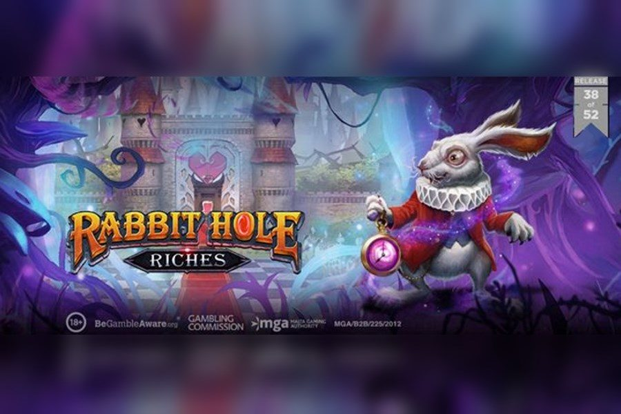 Play'n GO has released yet another game - Rabbit Hole Riches.
