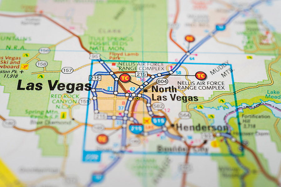 The site is located eight miles south of the Las Vegas strip.