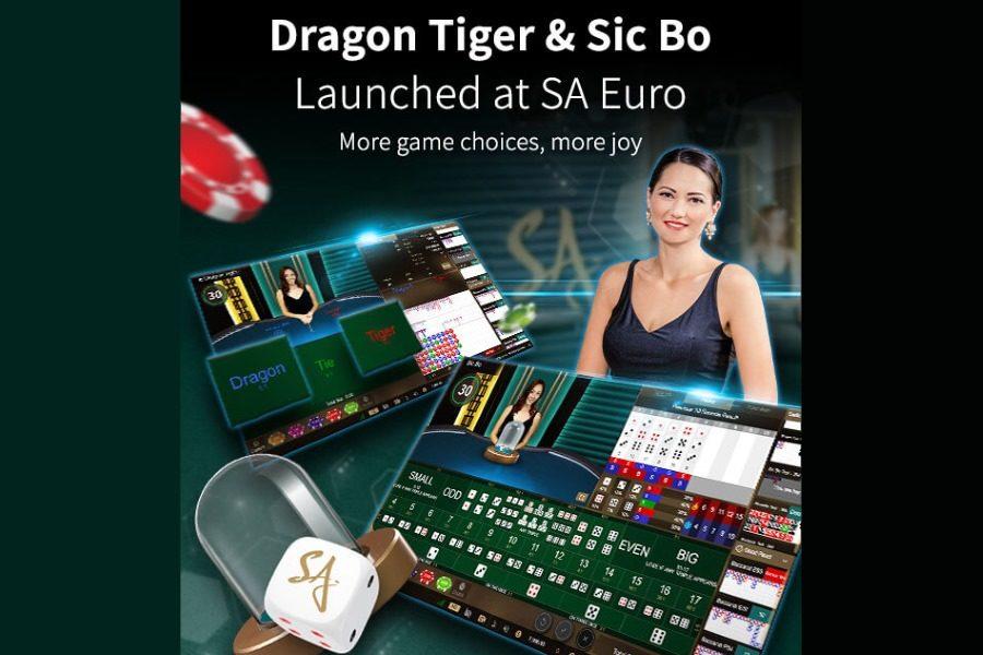 Dragon Tiger and Sic Bo are now available at SA Euro!