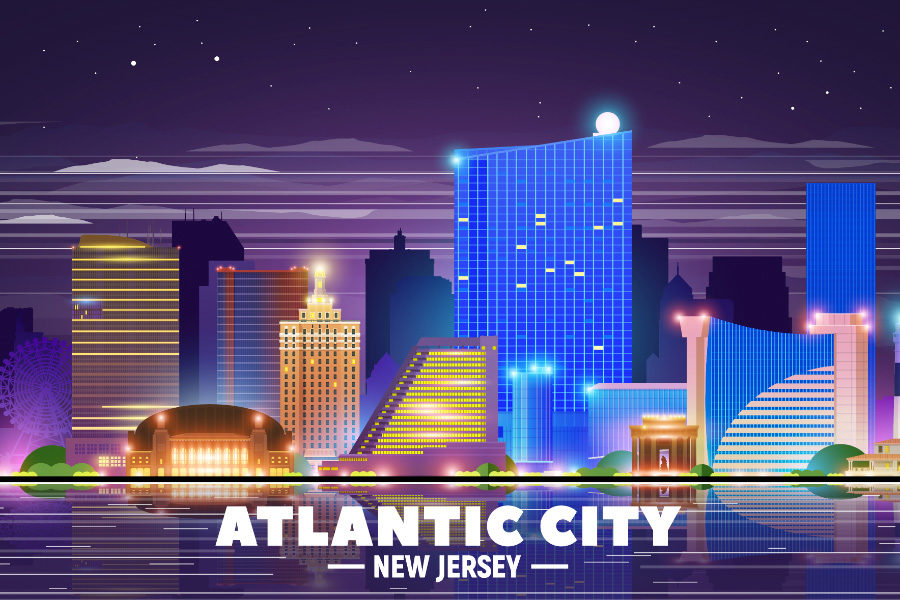 All but one of New Jersey's nine casinos reported overall drops in revenue.