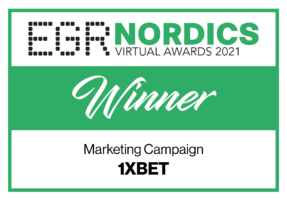 1xBet wins at EGR Nordics Virtual Awards