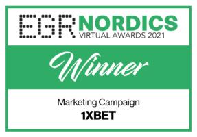 1xBet wins at EGR Nordics Virtual Awards