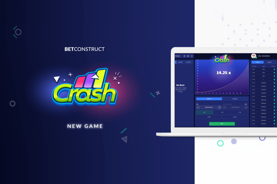 Crash is the latest addition to BetConstruct's game suite.