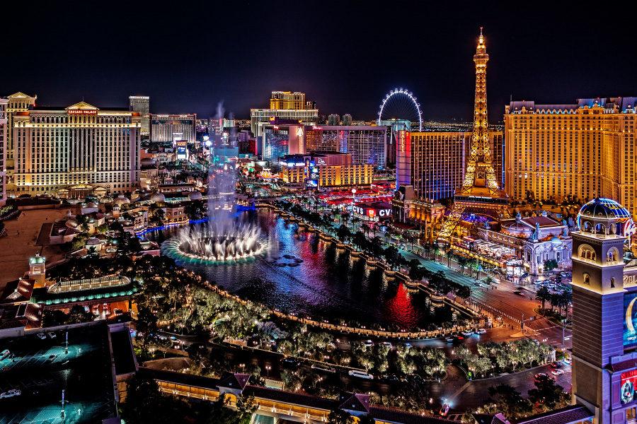 Las Vegas visitor numbers fell in December.
