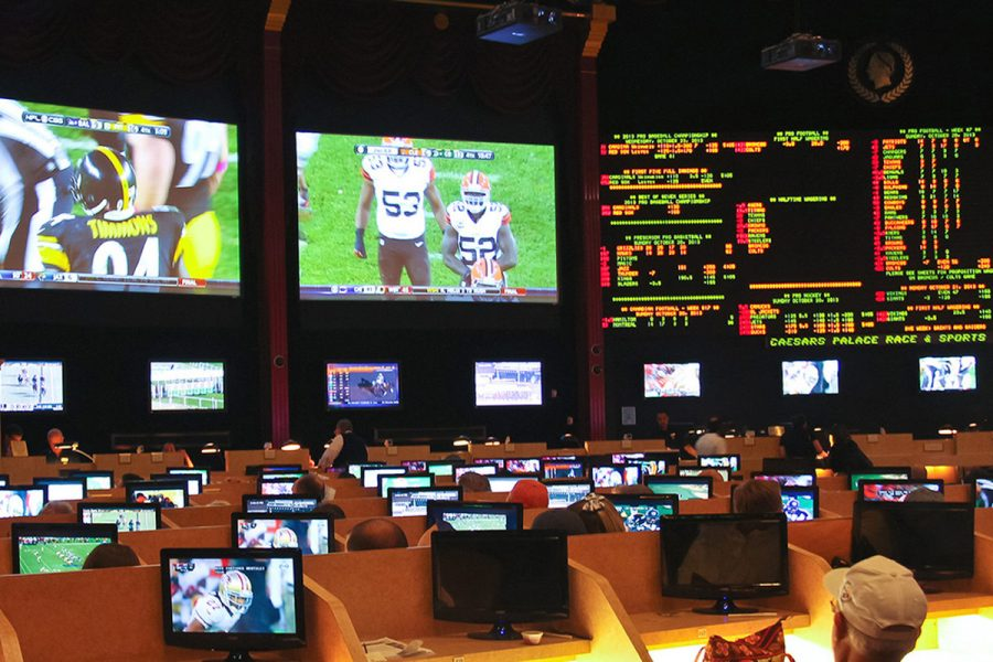 New Jersey law currently forbids betting on college sports.