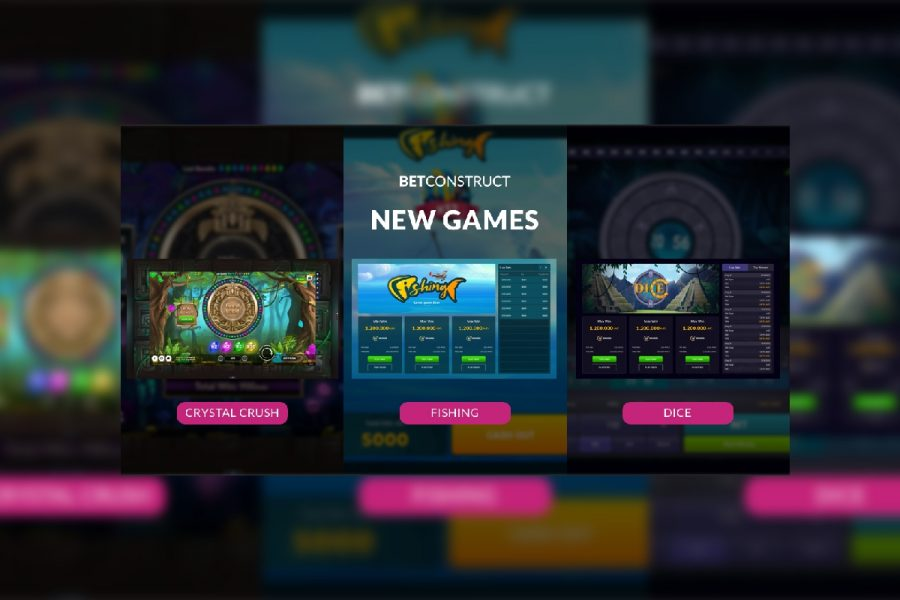 BetConstruct releases new RNG games Fishing, Dice, and Crystal Crush