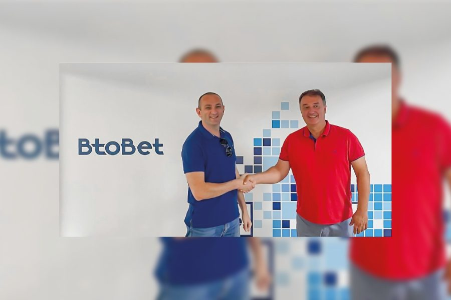 Dima Reiderman (left), BtoBet's Chief Operations Officer, and Zoran Spasov BtoBet's Managing Director, during the opening ceremony of the tech-hub in Ohrid