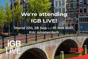 EGT Digital to exhibit at iGB Live!