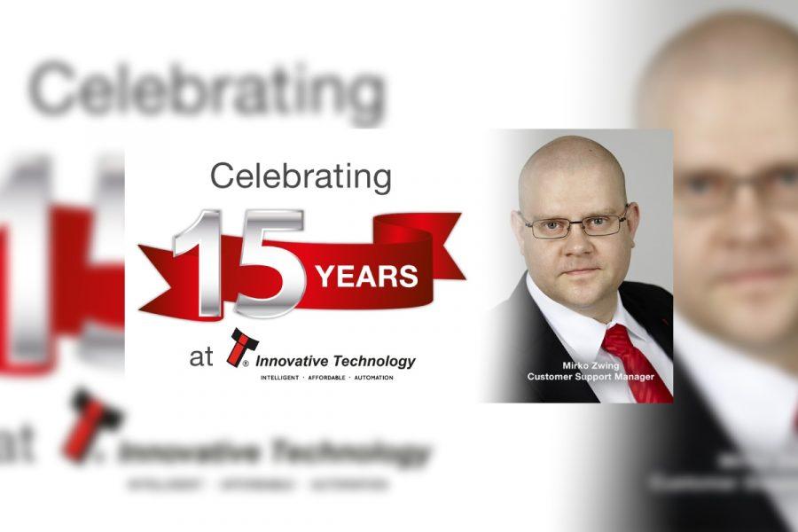 Innovative Technology celebrates Mirko Zwing 15 years' service.